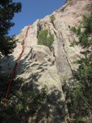 Rock Climbing Photo: The actual line.