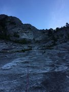 Rock Climbing Photo: Somewhere below pitch 5.  Matt Compton leading a l...