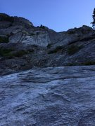 Rock Climbing Photo: Matt Compton leading pitch 6 (5.7) at the end of t...