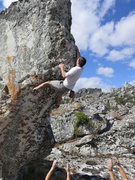 Rock Climbing Photo: Derrick Starling on Brixxx V3