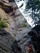 Rock Climbing Photo: Cruising The Feast of Fools on a cool August after...