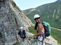 Rock Climbing Photo: I had the honor of giving beta and belaying Tom wh...