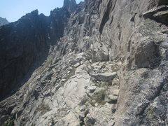 Rock Climbing Photo: Looking back along the ridge, notice the shaded bu...