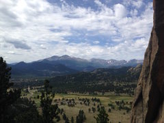 Rock Climbing Photo: View looking out from from the 1st crack / cam pla...