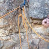 Anchor w/ grigri set to belay from top.