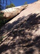 Rock Climbing Photo: Future crack.