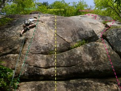 Rock Climbing Photo: Keith on the first pitch of Provando, Riprovando, ...