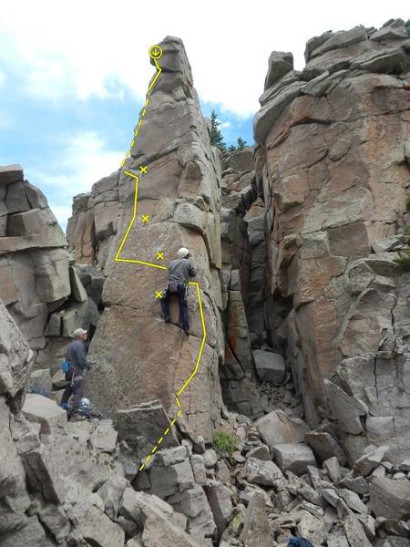 Rock Climbing Photo: Mopping Up Banshee Gravy Topo