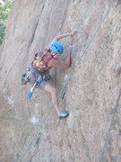 Rock Climbing Photo: Enjoying the choss on Capt. Morgan.