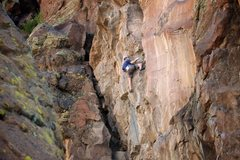Rock Climbing Photo: A candid moment with Ian as he gets into the busin...