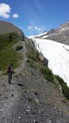 Rock Climbing Photo: At about 3000ft on the Morain Trail. Cruiser acces...