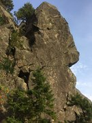 "Rock Climbing Photo: Arete to the right after going through ""Fat M..."