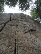 Rock Climbing Photo: Aid Crack. Huston Crack (offwidth) to left.