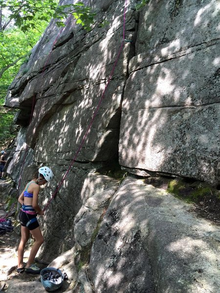 Madison getting ready to head up Rock Garden