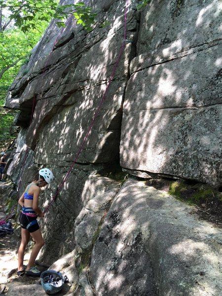 Rock Climbing Photo: Madison getting ready to head up Rock Garden