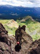 Rock Climbing Photo: The scree pitch.