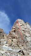 Rock Climbing Photo: Route overview.