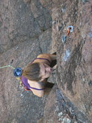 Rock Climbing Photo: My daughter Kira on the crux of Jungle Mountaineer...