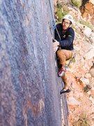 Rock Climbing Photo: Following in Red Rocks