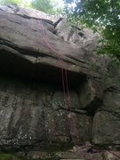 Rock Climbing Photo: The rope comes down the general vicinity of Kennel...