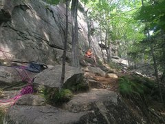 Rock Climbing Photo: Sydney chilling out at the base of the crag we had...