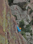 Rock Climbing Photo: Katie Todt on the money pitch of Yellow Spur.