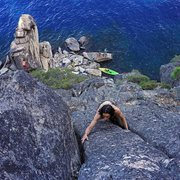 Rock Climbing Photo: Simultaneous climbing, paddleboard, slackline, cli...