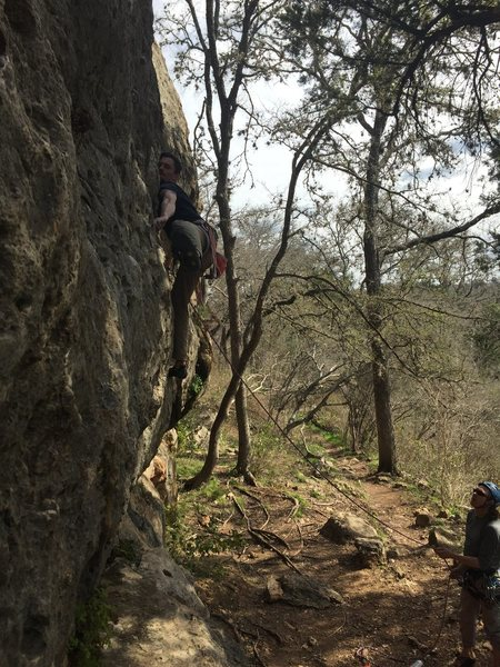 Rock Climbing Photo: Pulling a bouldery start in Reimer's Ranch, TX. 20...
