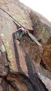 Rock Climbing Photo: Dude, pulling this roof was a mega lesson in painf...