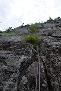 Rock Climbing Photo: Wet Dreams, 5.9, Pitch 1