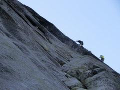 Rock Climbing Photo: Starting the namesake pitch. The moderate crack/ra...