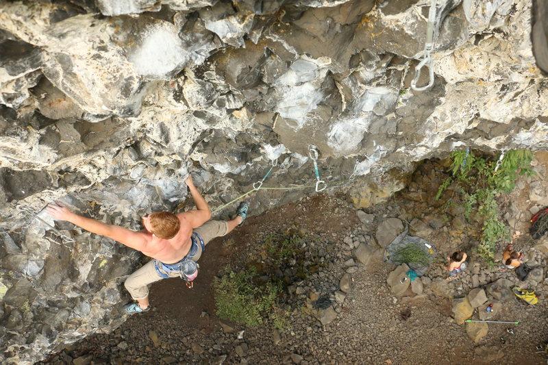 Rock Climbing Photo: Brandon Aye cruising the last part of Enchilada. P...