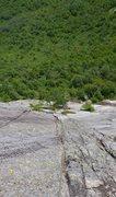 Rock Climbing Photo: Voie d'évitement, Second pitch from above