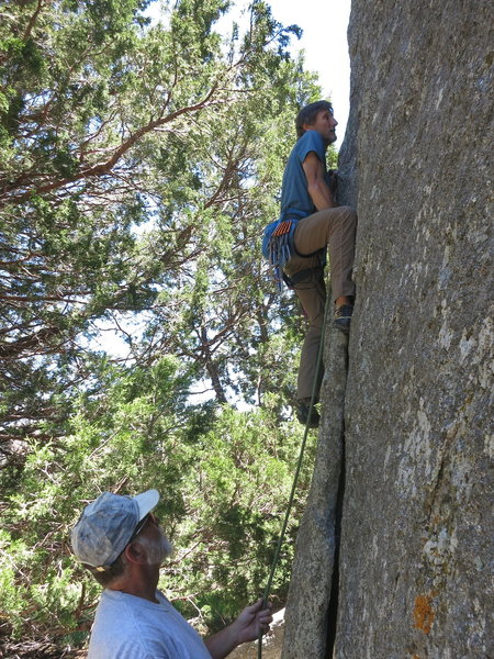 Rock Climbing Photo: Mike Engle starting to 'feel better' at the beginn...