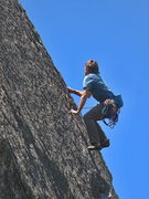 Rock Climbing Photo: Mike Engle pulling through the second crux sequenc...