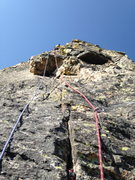 Rock Climbing Photo: Leading up pitch 3. It's a looong one if you want ...