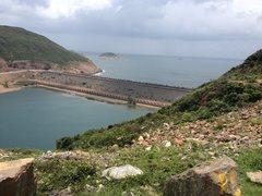 Rock Climbing Photo: reservoir and seawall