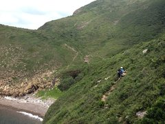 Rock Climbing Photo: goat path