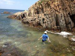 Rock Climbing Photo: wading