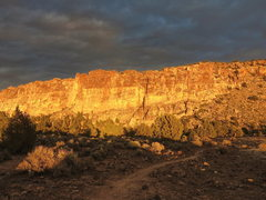 Rock Climbing Photo: Prophesy Wall at Sunset, Feb 2015