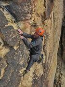 Rock Climbing Photo: Andrei Zippy pulling the big Roof of Jericho