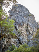 Rock Climbing Photo: Upper portion of Massif Groove.