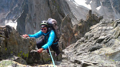 Rock Climbing Photo: Atop our 4th pitch. Much of the exposed arete can ...