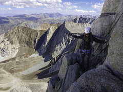 Rock Climbing Photo: On the way down after climbing E. Arete of Mt Hump...