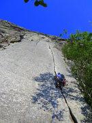 Rock Climbing Photo: Reppy's Crack, Cannon Cliff