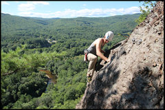 Rock Climbing Photo: Pretty spectacular position up there... Tyler trav...