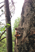 Rock Climbing Photo: Me on my first bolted ascent of the climb. I reall...