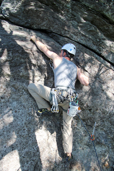 Rock Climbing Photo: love that left foot... you cant miss it! PS this i...