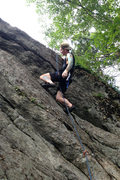 Rock Climbing Photo: Me, chilling at the overlap... I chilled here a lo...