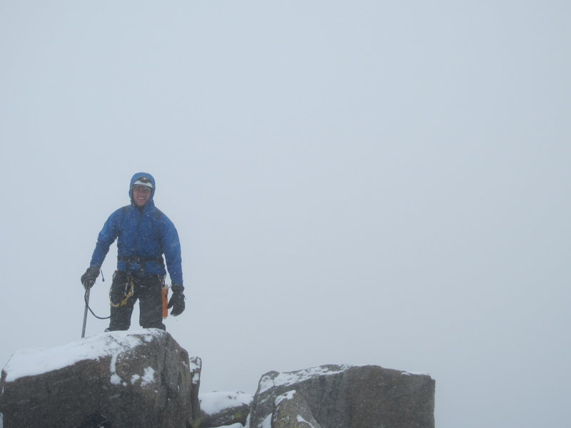 Summit of Gannet in winter conditions in July!